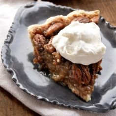 Bacon fat pie crust with bourbon and maple spiked pecan filling. Every bacon lover's dream!