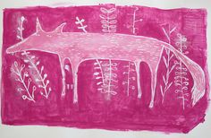 Pink Wolf and Riding Hood by Hazel Terry, via Flickr