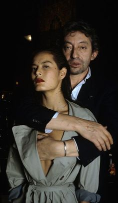 Serge Gainsbourg and Bambou, October 1981 Serge Gainsbourg, Charlotte Gainsbourg, Gainsbourg Birkin, Jane Birkin, French Collection, Paris Match, Provocateur, Girl Smoking, Best Couple