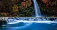 Oasis by DaniloFaria  autumn waterfall moss polarizer warming filter ND filter Arizona Grand Canyon Sandstone Aquamarine H