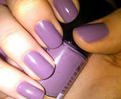 Lavender wedding day nails.