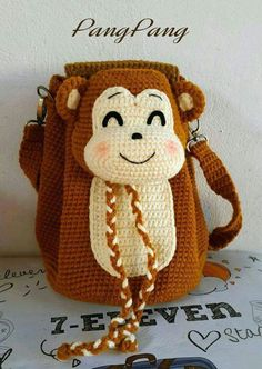 Mochila de monito a crochet