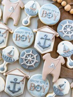 Fancy Cookies, No Bake Cookies, Sugar Cookies, Sugar Cookie Royal Icing, All Themes, Baby Shower Cookies, Pirate Theme, Cookie Designs, Cookie Recipes