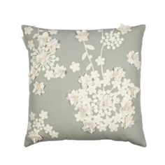 RJR.John Rocha Designer light blue floral crochet applique cushion- at Debenhams.com