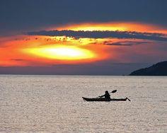Sunset with Kayak