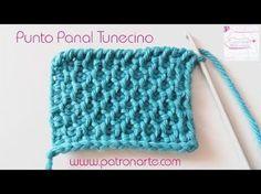 Aprende a tejer el Punto Panal Tunecino. Para ver más detalles sobre este u otros tutoriales entra en www.patronarte.com/tutoriales
