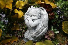 Precious Baby Sculpture Memorial Concrete Outdoor by PhenomeGNOME, $89.99