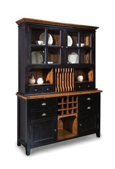 African Dusk u0026 Espresso Wine Rack Buffet u0026 Plate Rack #winerack #buffet #furniture  sc 1 st  Pinterest & Primitive Plate Rack with 2 Drawers Color by WillowIslandPrim ...