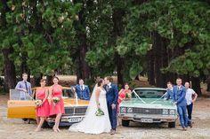 wedding in Wanaka using vinatge cars www.wanakaweddingflowers.co.nz
