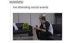 Me attending social events