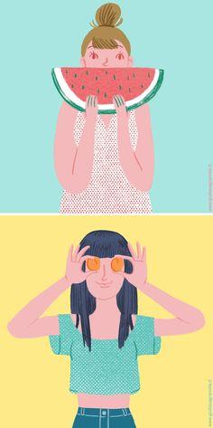 Las ilustraciones de Giulia Sagramola ¡huelen a verano!