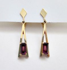 Vintage Clip On Dangle Earrings  1975 Avon Faux by vintagejunque