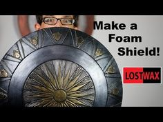 How to Make a Domed Foam Shield. DIY Wonder Woman/ Captain America Cosplay Shield - YouTube