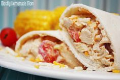 Southwest chicken wraps- maybe substitute ranch out for something healthier?