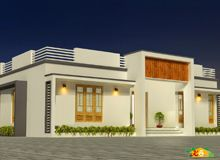 Single storied Flat roof House Less than 3000sqft