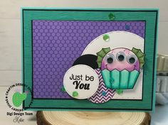 Cupcake Cutie Fish Monster Digital Stamp - Craftin Desert Divas