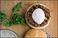 Black Bean  Quinoa Veggie Burgers {finally, a veggie burger recipe that doesn't require a food processor!}