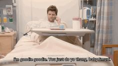 """Ben Wyatt on morphine. """"I'm goodie goodie. You just do your thang baby Smurf."""" -Parks and Recreation"""