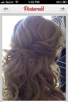 Possible wedding hair. Half up/half down. Love the casualness.