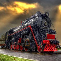 #locomotive #photo #coloured #train #railway #old #history #motor #engine