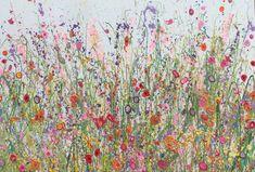 Your Love Keeps Giving My Heart Sweet Happiness is an original artwork by UK Flower Artist Yvonne Coomber using oil paint on a canvas surface #flowerart #wallart #oilpainting #artforinteriors