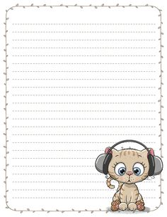 Cute Baby Kittens Stationery Printable Pen Pal Letters