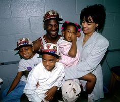 This is a picture of me with three of my children and my ex-wife. My boys, Jeffrey Michael Jordan and Marcus Jordan, and my daughter, Jasmine Mickael Jordan. To my pleasure both my sons played basketball up to and in college and my daughter is a promising young designer.