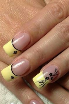 ideas for nails art yellow fluo Fabulous Nails, Gorgeous Nails, Pretty Nails, French Nail Art, French Tip Nails, Nail Art Designs, Nails Design, Best Nail Salon, Funky Nails