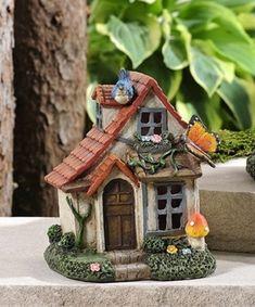 Mini World Fairytale LED Lighted Woodland House Garden Decor a