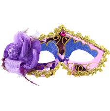 Venetiansk Ögonmask med Blomma Lila