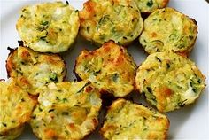Zucchini Bites - these are so yummy! (TIP: during the summer, shred your leftover zucchini from the garden in 2-cup increments and freeze in baggies.  Then thaw as needed throughout the year!)