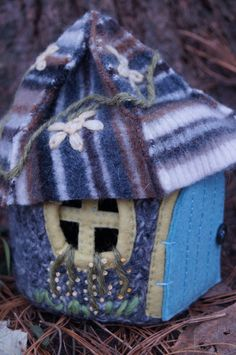 Waldorf Felted Wool Gnome Cottage and Gnomes by BranchofMay.