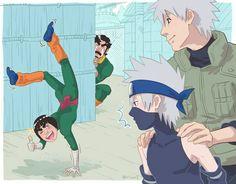 Gai, Dai, Sakumo & Kakashi
