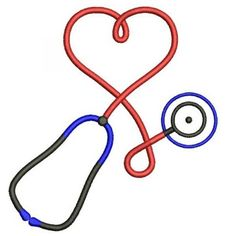 Stethoscope Heart Medical Embroidery- Instant Download Machine Embroidery Design 4x4 , 5x7, and 6x10 hoops, Nurses, Doctors, LPn