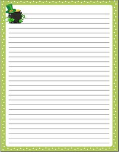 FREE! St. Patrick's Day themed stationary paper.