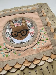 The cutest patchwork! project patchwork by cat rabbit, via Flickr