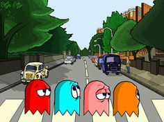 Abbey Road - The Beatles - Pac Man Abbey Road by DanDav87