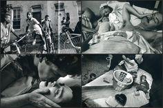 - -Eugene Richards. El fotógrafo implicado - Durante los años 60, fue un activista de los derechos civiles. Ayudo en organizaciones sociales, publico diversos libros y socio de la empresa Magnum. Más destacados por sus ensayos y su fotografía sobre cáncer, drogadicción, pobreza, medicina de emergencia, discapacitados mentales, tercera edad y muerte en América.