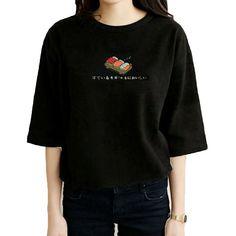 De Las Mujeres del verano Camiseta Ocasional Sushi Japonés de Dibujos Animados de Impresión Camiseta Divertida Street Style Shirt Tee Femme Negro Blanco Tops Harajuku