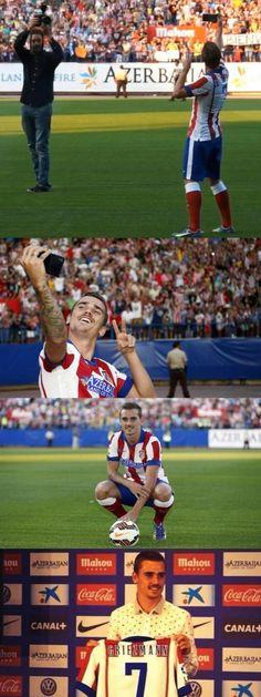 Le numéro de Griezmann à l'Atlético - http://www.actusports.fr/114322/numero-griezmann-latletico/