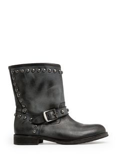 MANGO - ROUNDED STUDS LEATHER BOOTS