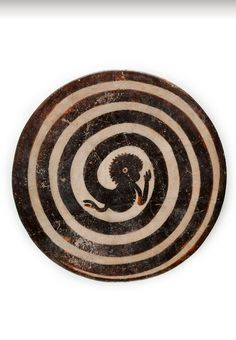 Mayan plate with monkey tail in spiral, ca. 300-850 CE