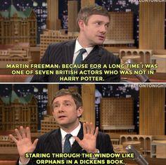 Awww poor Martin Freeman... :'-(