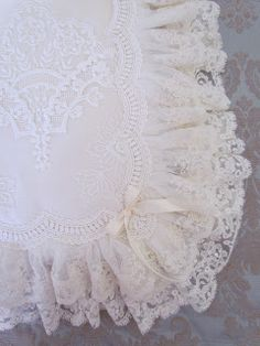 Angela Lace: My Bags are Packed. Baby Embroidery, Embroidery Monogram, Antique Lace, Vintage Lace, Baby Clothes Blanket, Baby Diary, Ruffle Pillow, Baby Sheets, Wedding Pillows