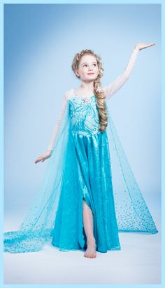 Girls Frozen Princess Elsa Anna Tulle Dress Up Fancy Costume Cosplay Halloween Frozen Hair, Frozen Elsa Dress, Frozen Snow, Disney Frozen, Girls Lace Dress, Dress Up, Girls Dresses, Halloween Costumes For Girls, Girl Costumes