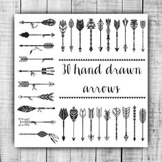 ********INSTANT DOWNLOAD ******** You will receive: 30 Hand Drawn Tribal Aztec Arrows Clip Art high quality 300 DPI 12 x 12 (3600 x 3600) PNG