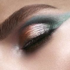 Blend #eyeshadow with a creamy luminizer on the back of your hand to create a subtly glossy look. | Health.com #beauty