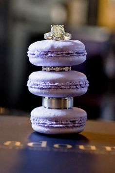 diamonds + macaroons! what more could a girl ask for?