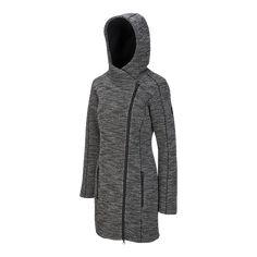 5fdf307d McKINLEY Women's Valetta Hooded Long Fleece Jacket - BLACKMELANGE Jackets  For Women, Fall Outfits,