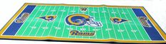 "St Louis Rams 28 X 52"" football field throw rug"